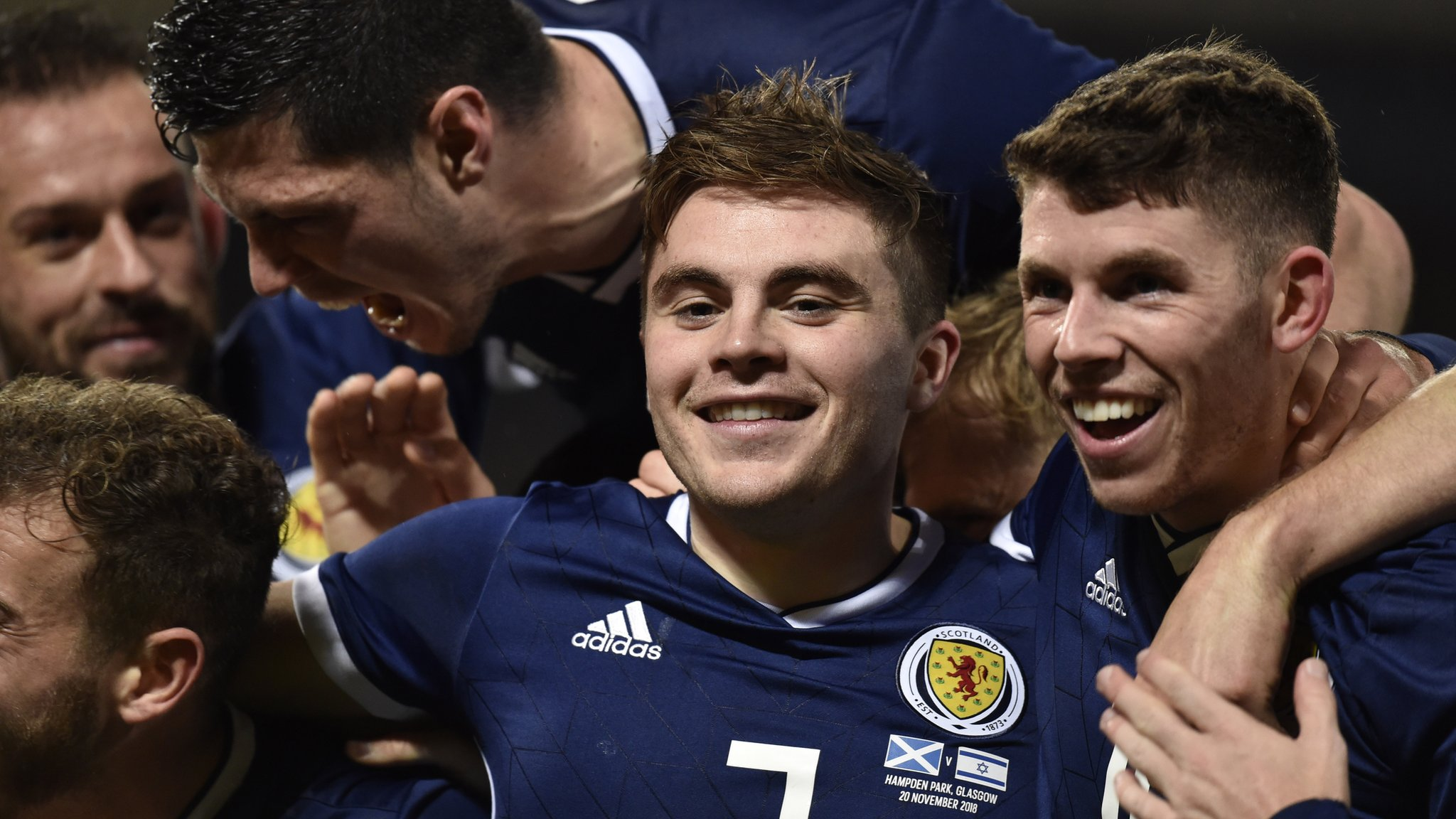 Forrest scores hat-trick as Scotland win to top Nations League group