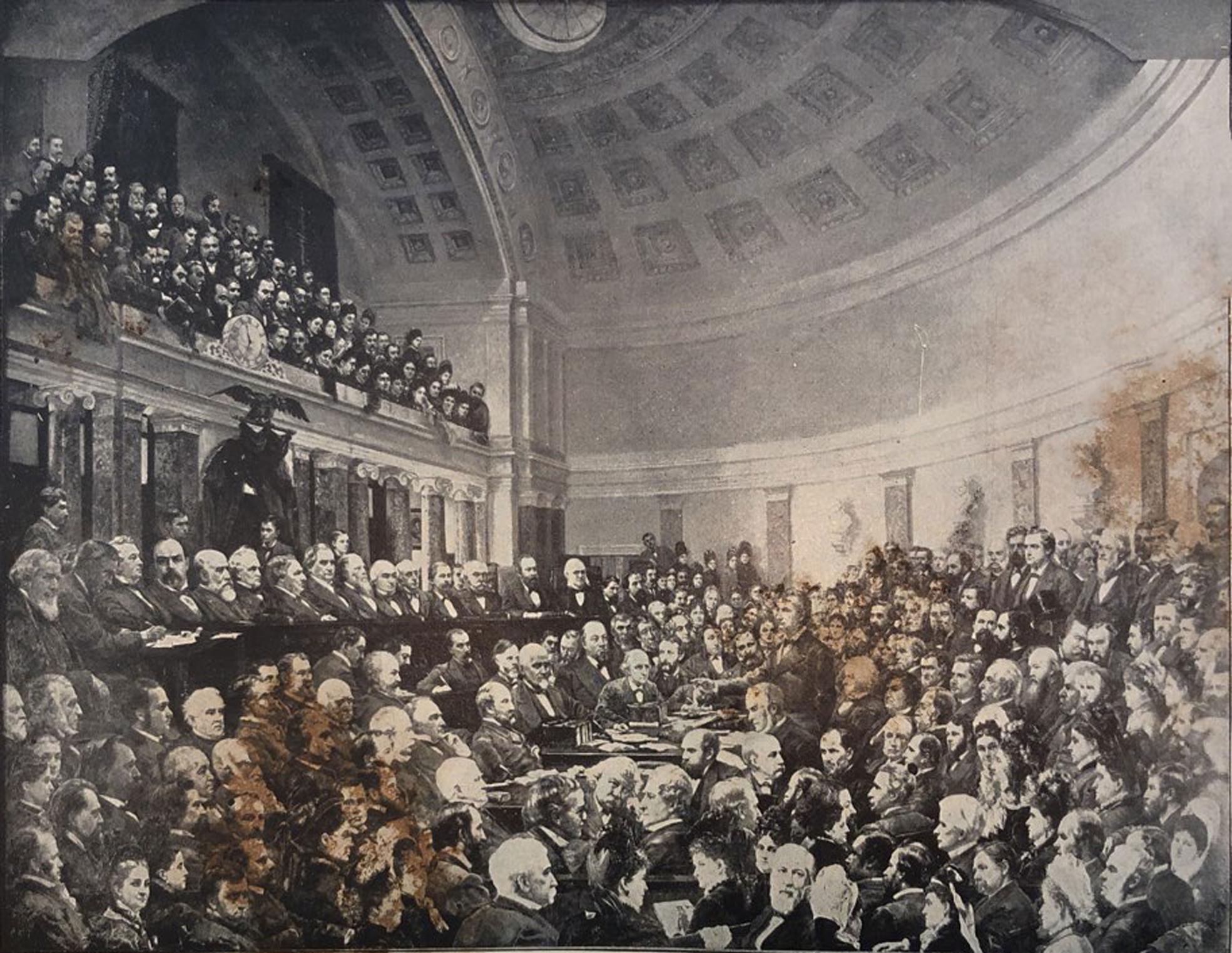 La elección de la comisión electoral del presidente Rutherford B. Hayes en 1876.