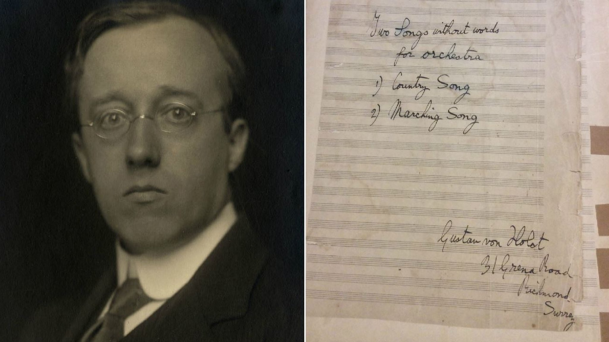 'Lost' Gustav Holst score returned to UK after 100 years