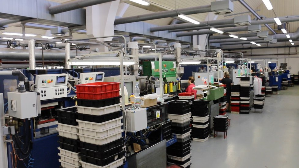 The busy factory floor at GZ Media