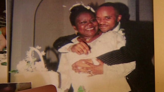 A photograph of Anthony Fatayi-Williams with his mother