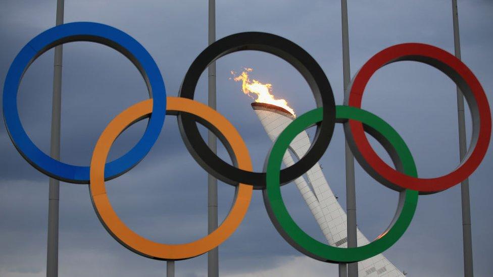 Antorcha olímpica en Sochi.