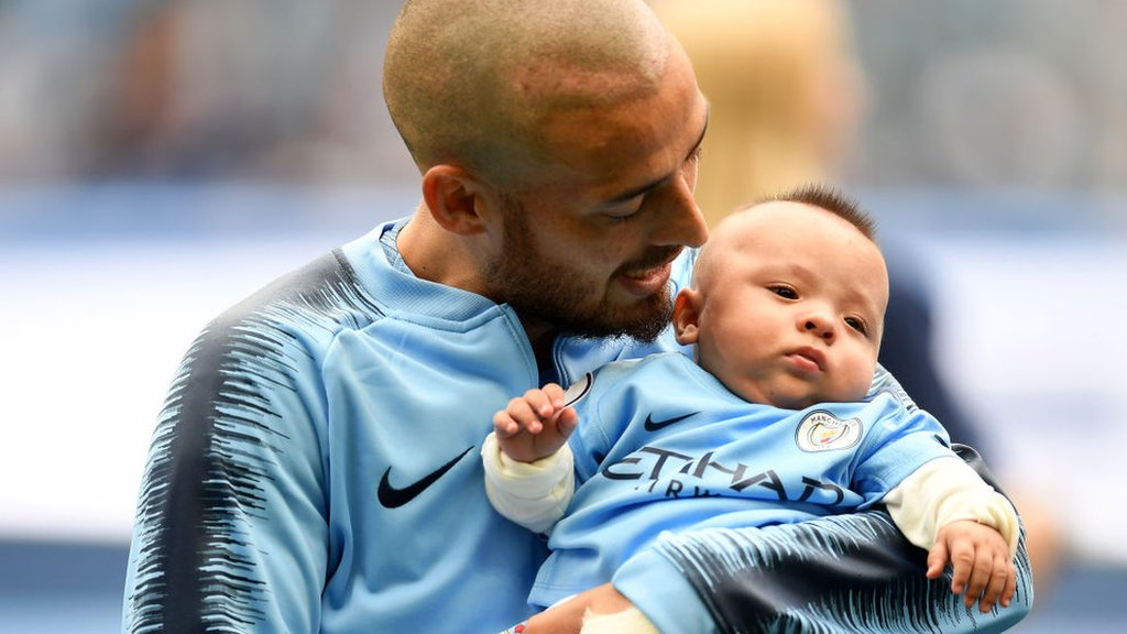 'Can't cope!' Silva's baby steals show as Man City mascot