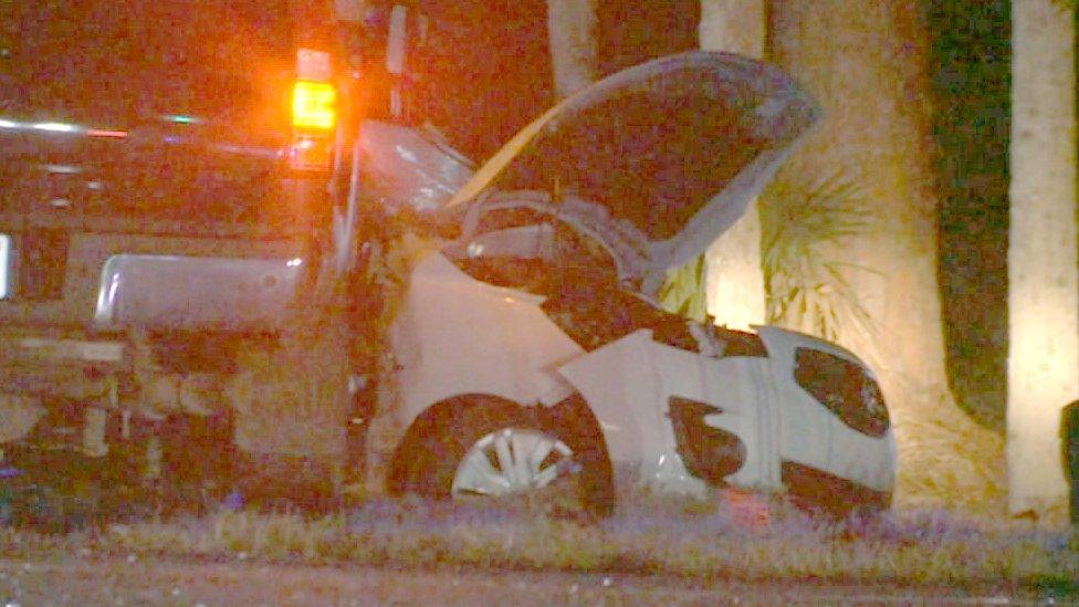 Scene of crash in Florida