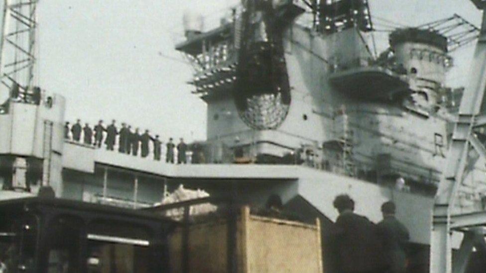 Portsmouth naval base in 1982