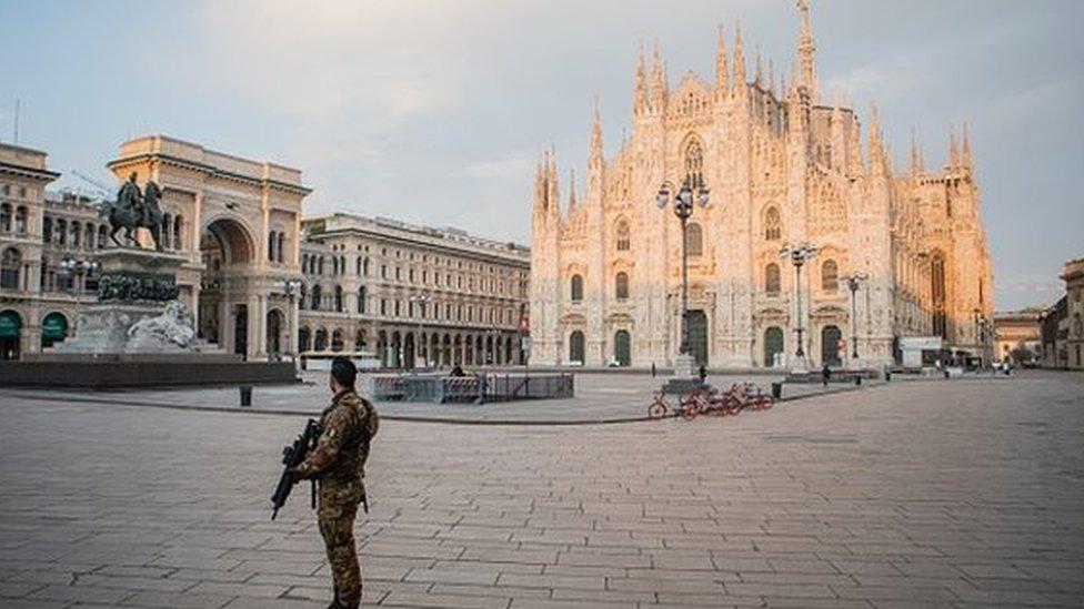 La región de Lombardía es una de la más afectadas por el covid-19 en Italia.