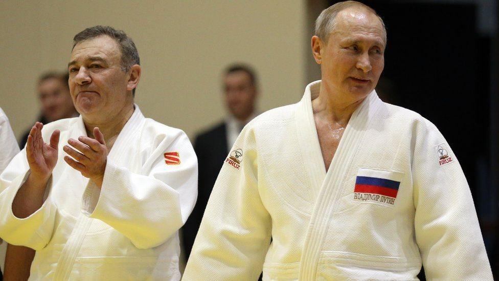 Rotenberg y Putin en Sochi