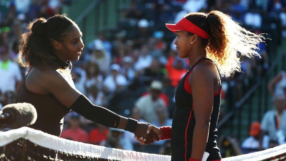 Osaka y Serena en la red