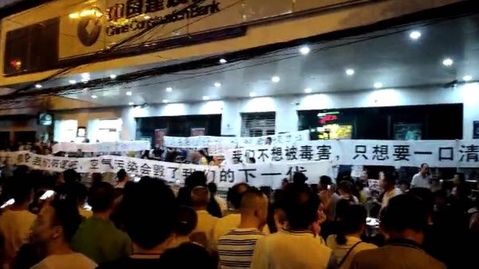 Protest in Wuhan
