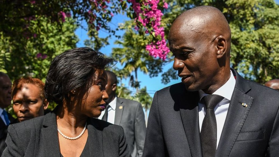 Jovenel Moise and his wife Martine Moise