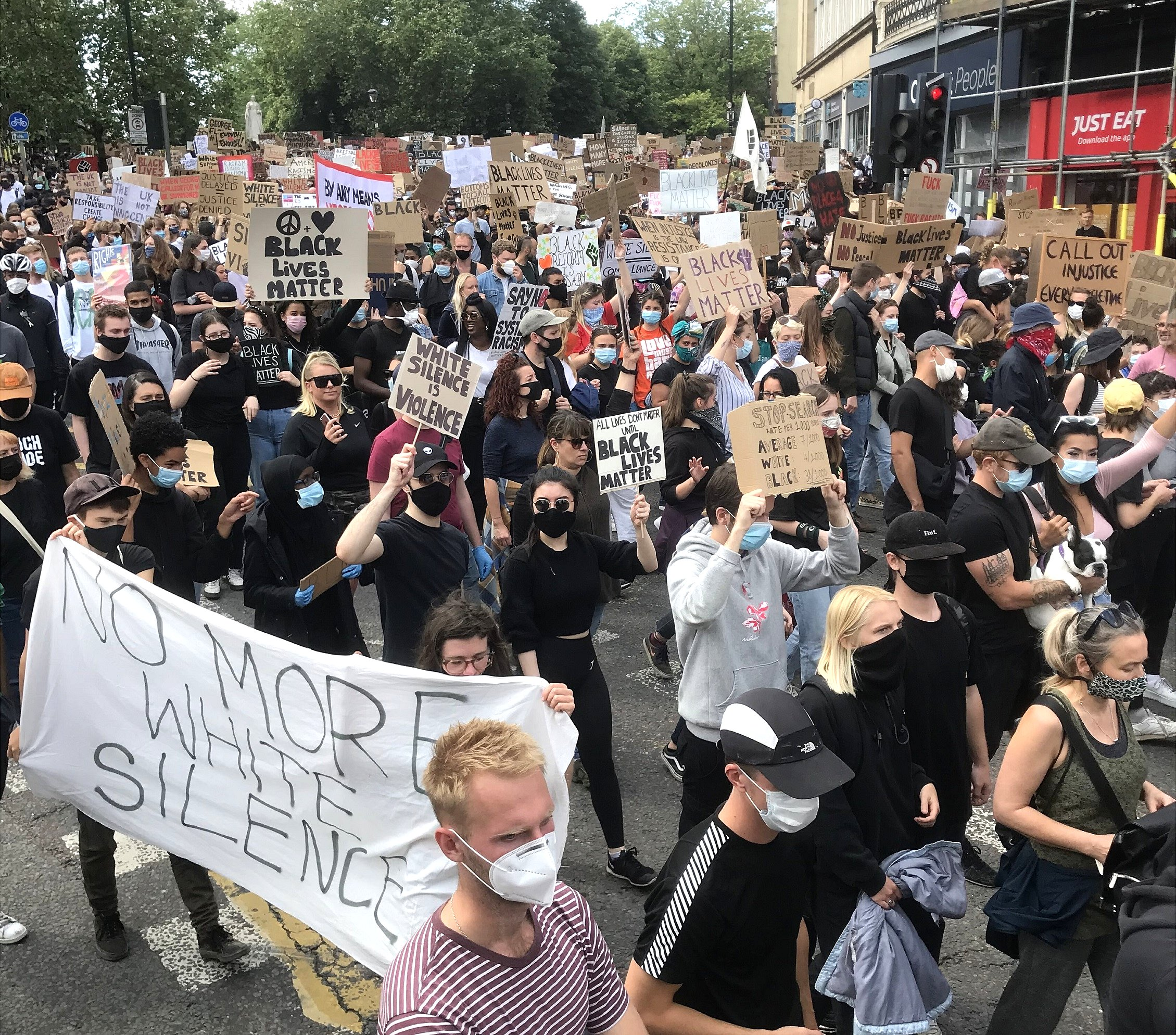Black Lives Matters march in Bristol on 7 June 2020