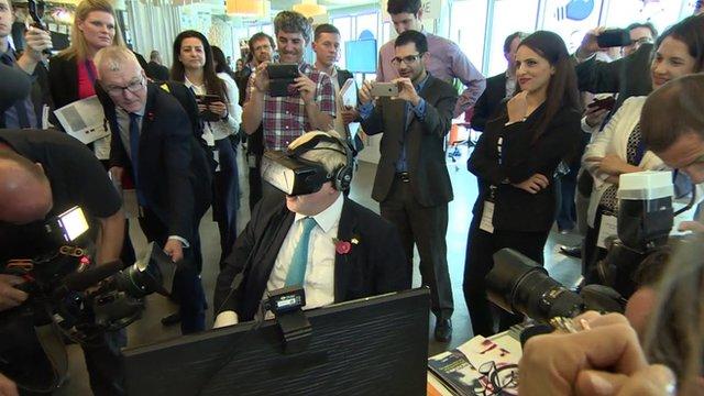 Boris Johnson is videoed at the Google Campus in Tel Aviv