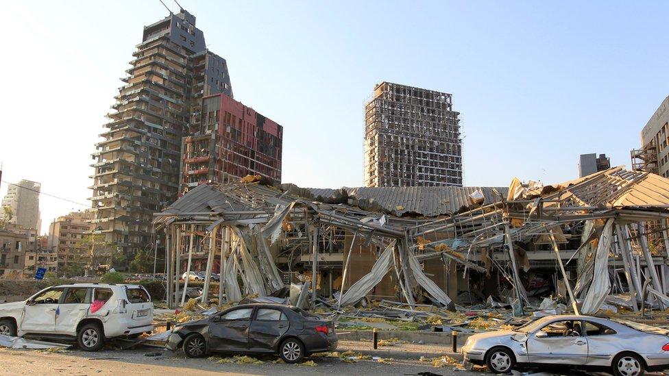 الانفجار دمر مباني وسيارات ومنازل