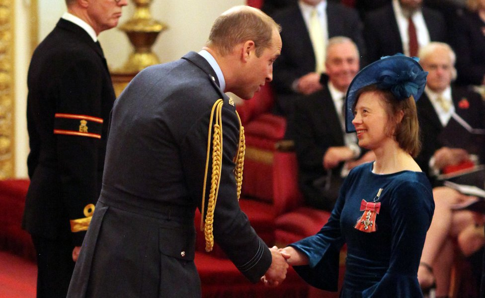 Sarah Gordy and the Duke of Cambridge