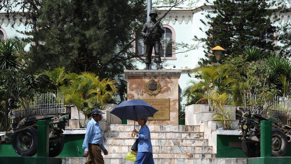 Monumento en Tegucigalpa