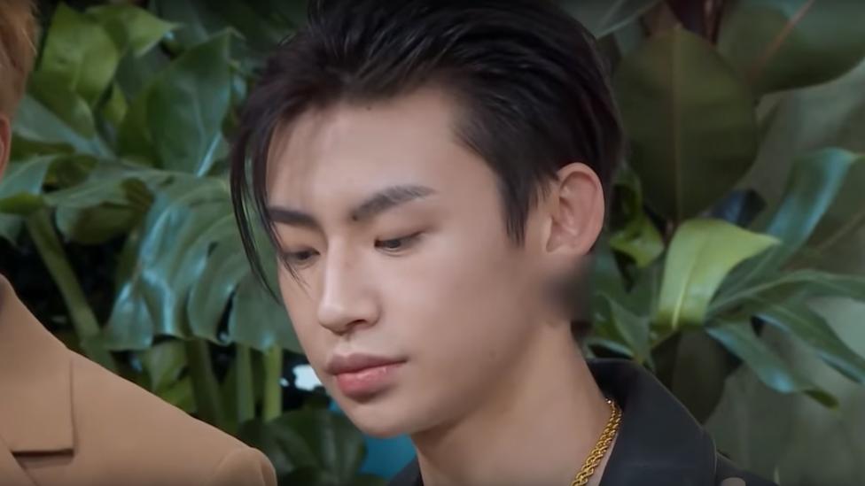 Parte de las orejas del actor Wang Linkai fueron difuminadas por las autoridades chinas.