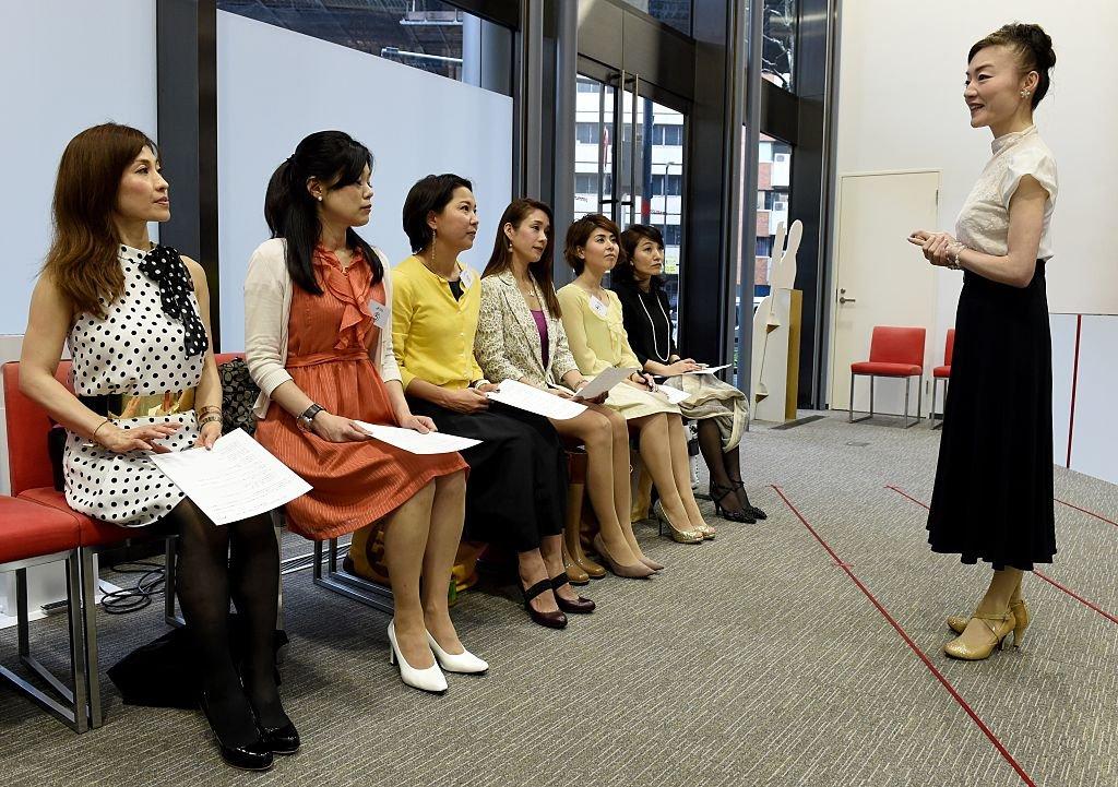 Mujeres en una oficina en Japón