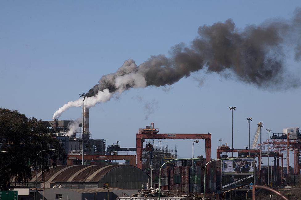 Planta termoeléctrica Central Puerto en Buenos Aires
