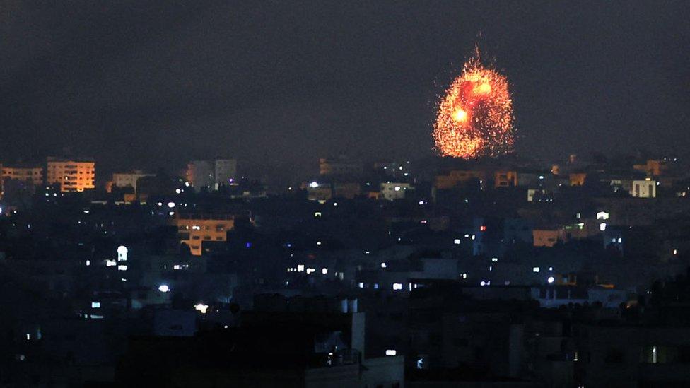 Ataque israelí en Gaza.