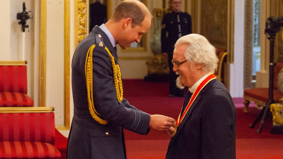 Prince William and Billy Connolly