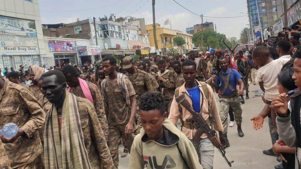 الأسرى من الجنود الإثيوبيين