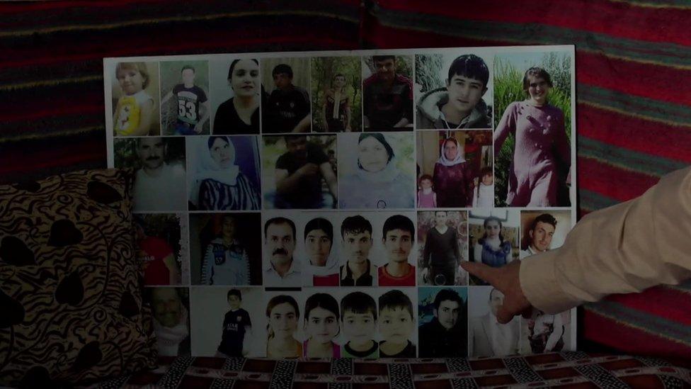 Collage de jóvenes desaparecidos.