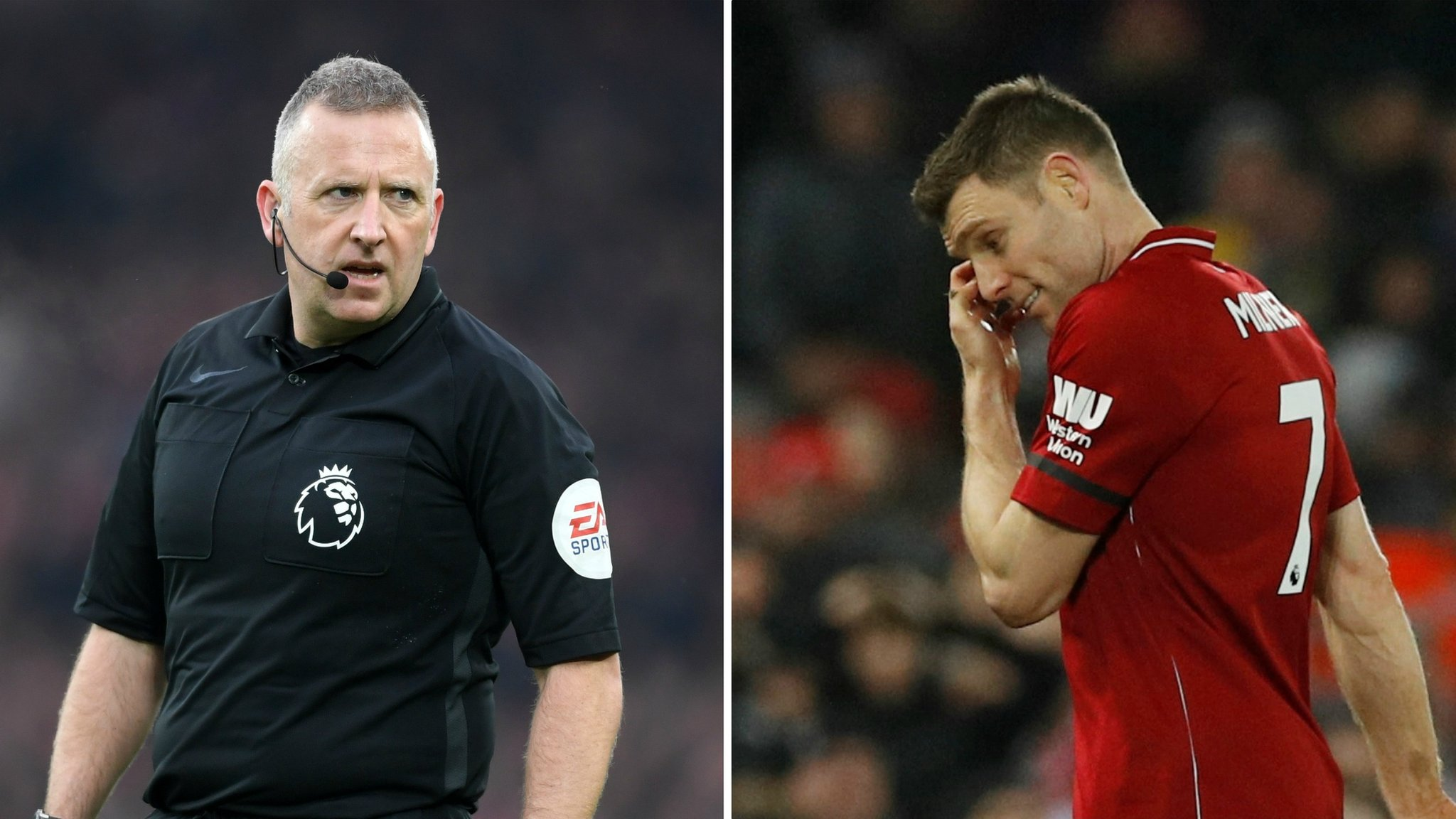 'Sorry sir!' Liverpool's Milner sent off by his former PE teacher Moss