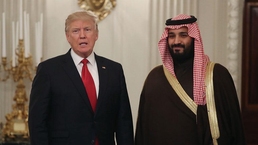Donald Trump y el príncipe de Arabia Saudita Mohammad bin Salman