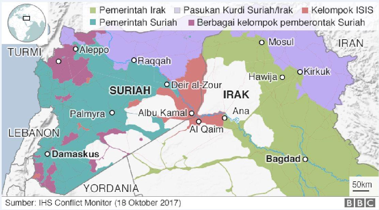 peta Suriah
