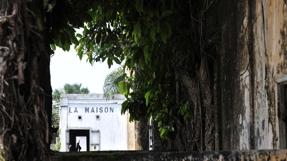 old buildings and vegetation in Grand-Bassam,