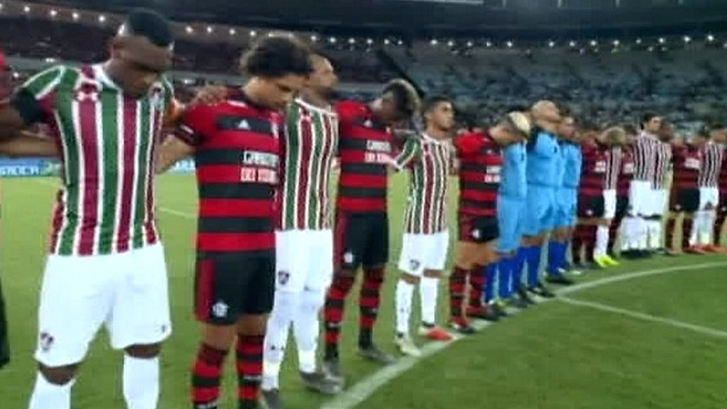 Flamengo pay tribute to 10 teenage players who died in training ground fire