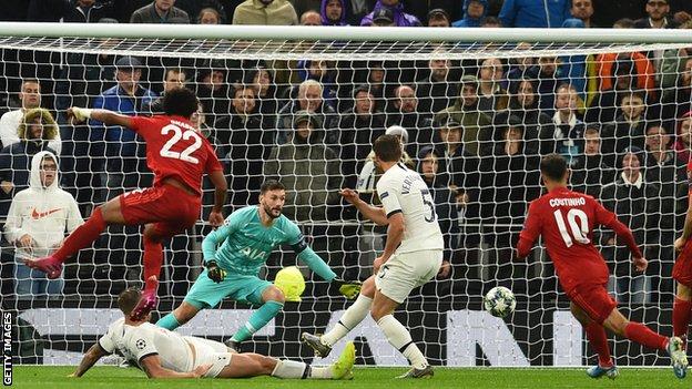 Gnabry scores against Tottenham in October