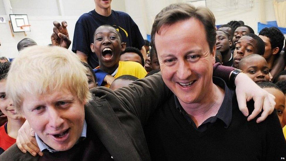 Boris Johnson and David Cameron in 2010