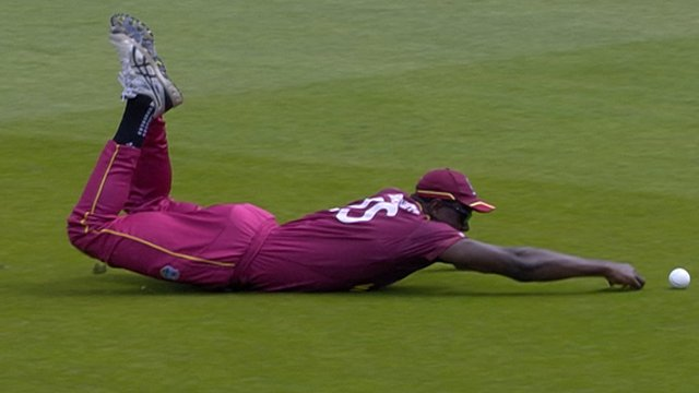 Cricket World Cup: Watch Brathwaite's fielding fail during West Indies v New Zealand