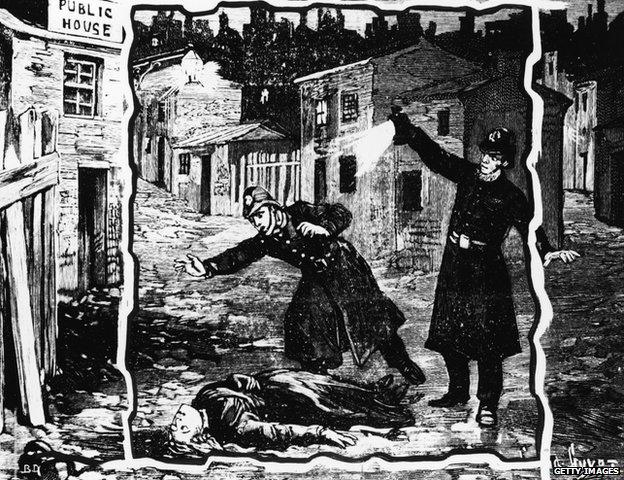 Jack the Ripper newspaper illustration