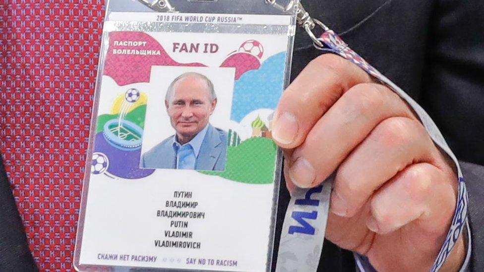 Hasta el presidente de Rusia, Vladimir Putin, tiene su Fan ID.