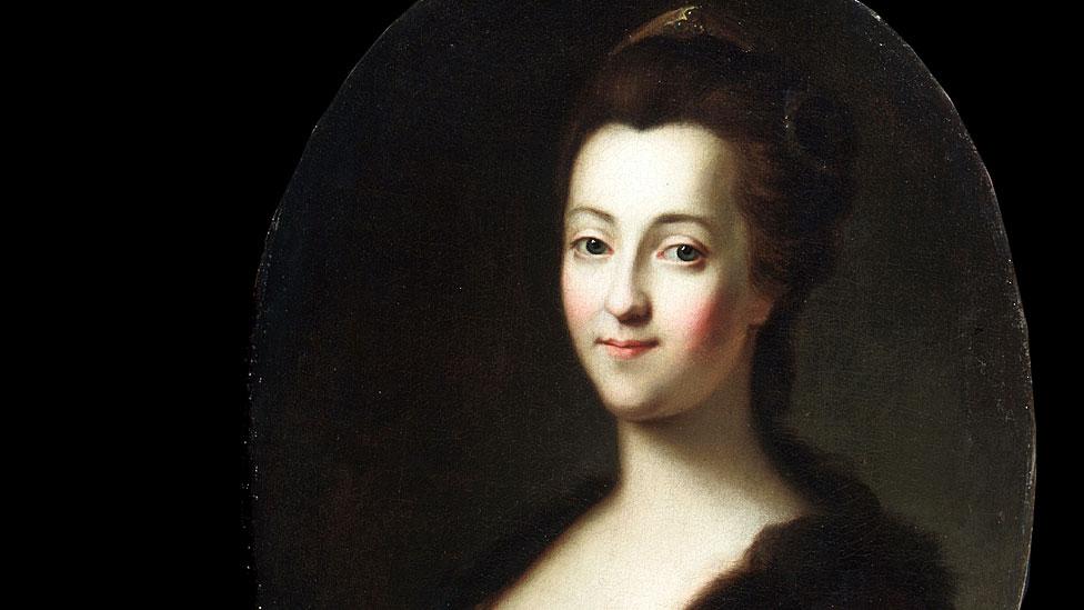 Retrato de la emperatriz Catalina II, del siglo XVIII. Artista: Vigilius Erichsen