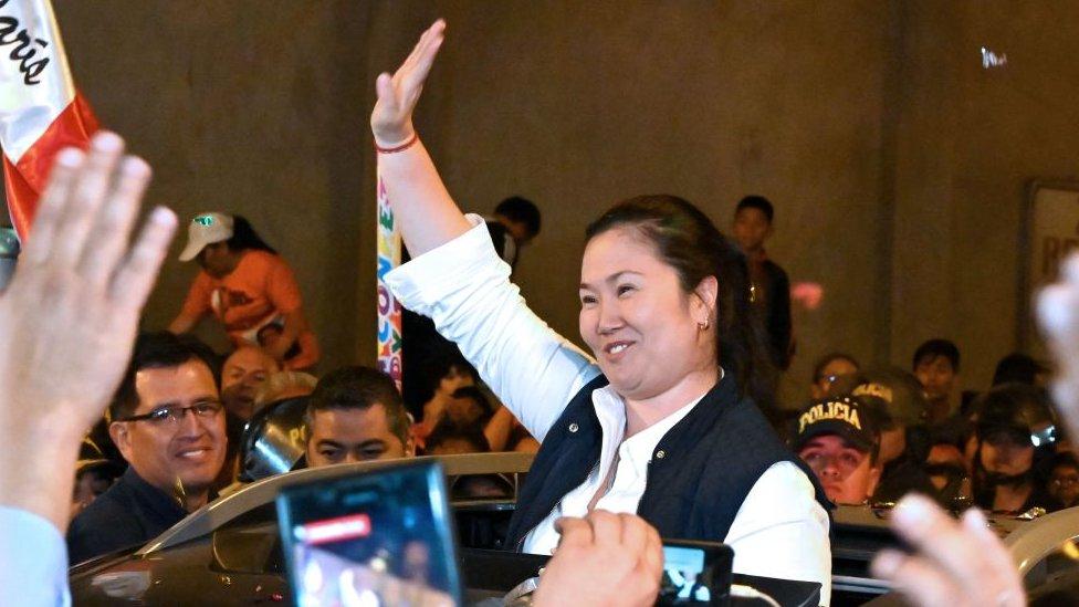 Keiko Fujimori, tras ser liberada el 29 de noviembre de 2019