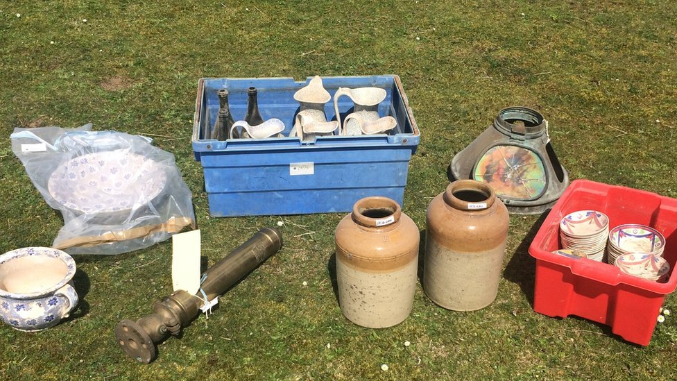 Recovered items stolen from shipwreck