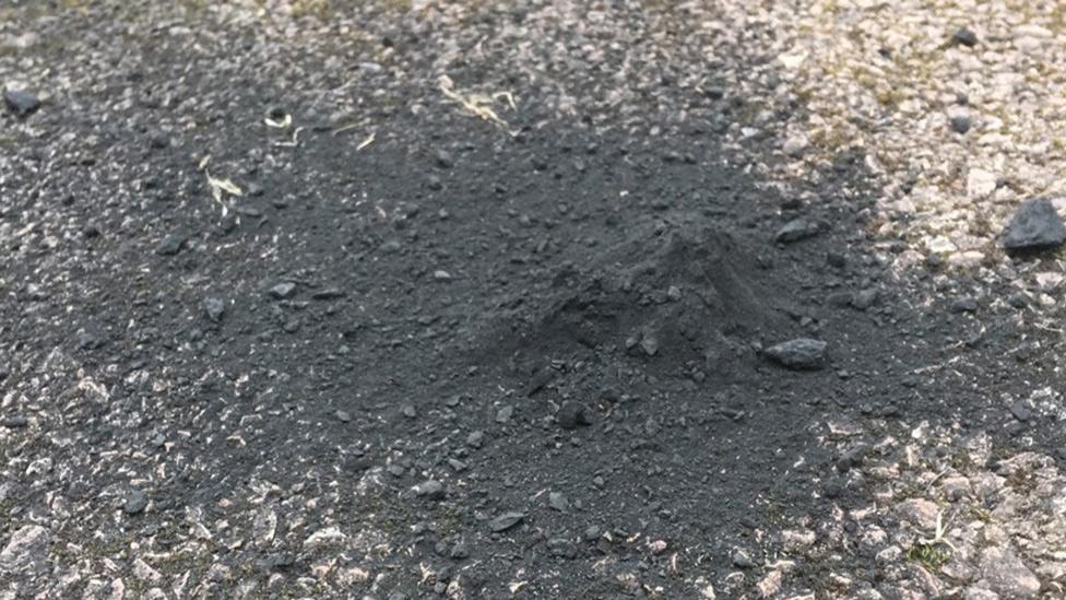 Driveway pile, meteor
