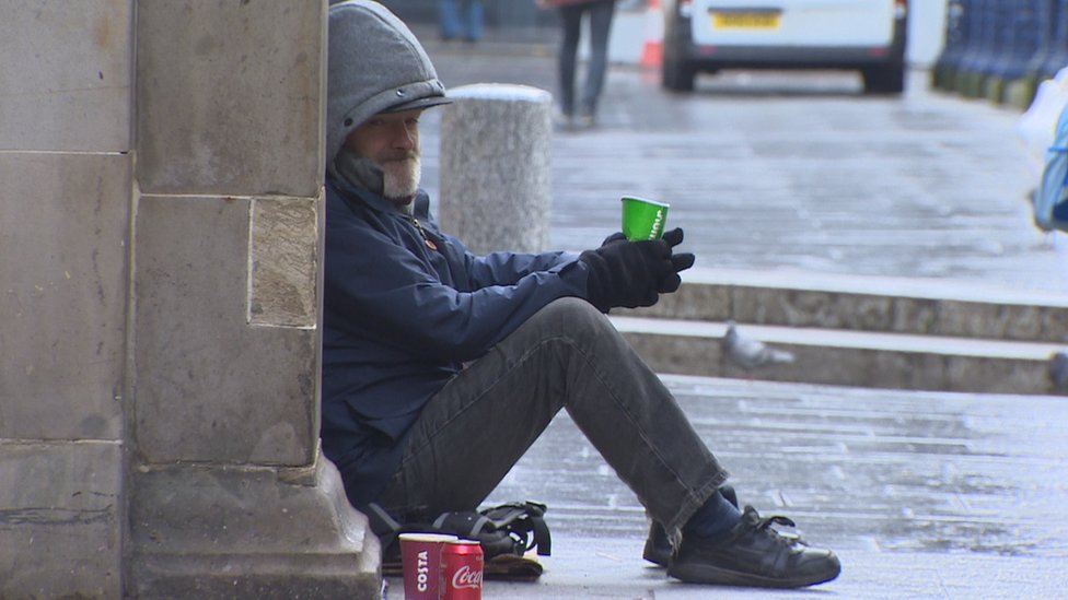 homeless man in glasgow