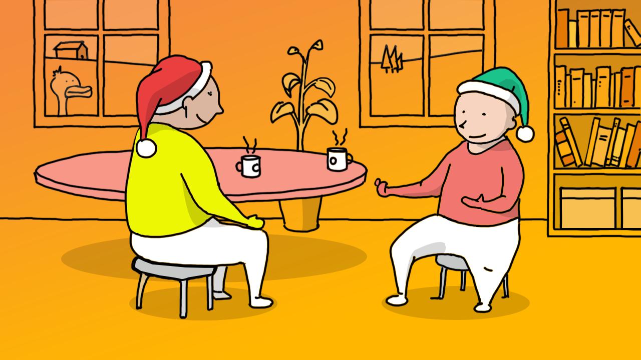 Illustration of talk it over