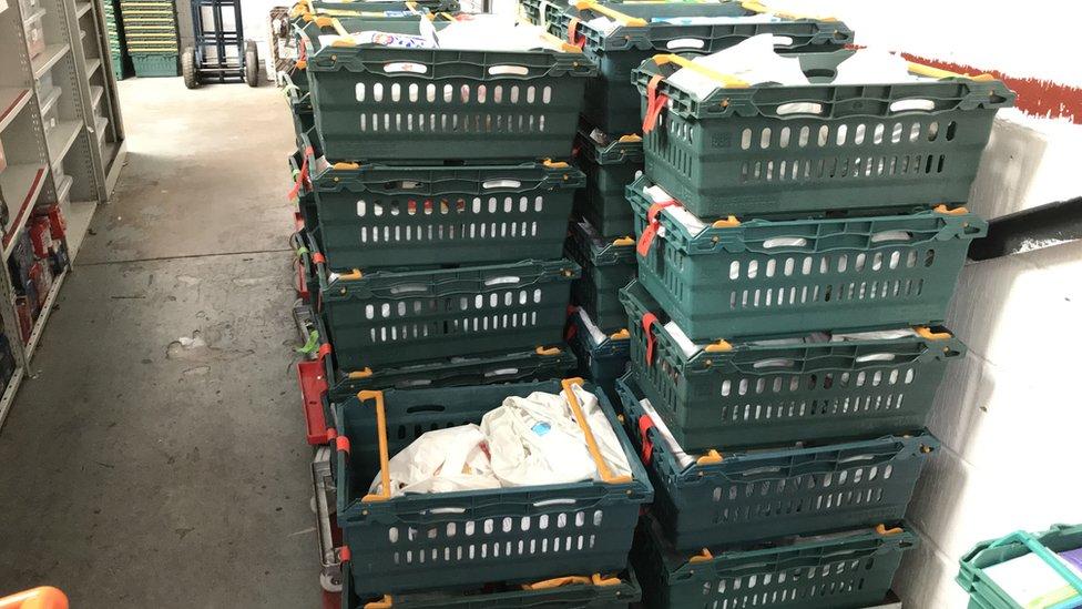 Baskets of food