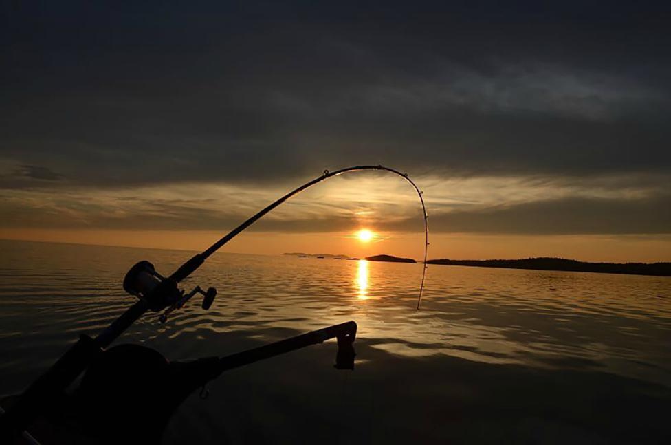 Fishing on Lake Superior, Canada