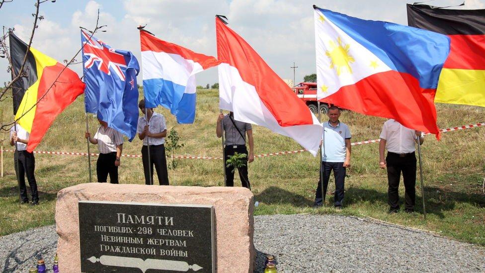Bendera negara asal korban pesawat MH17.