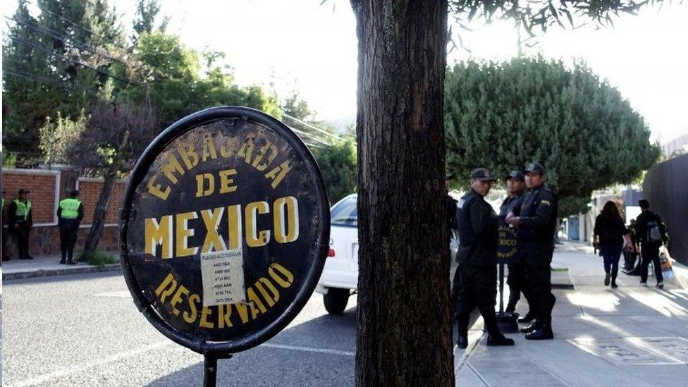 Emabajada mexicana en Bolivia
