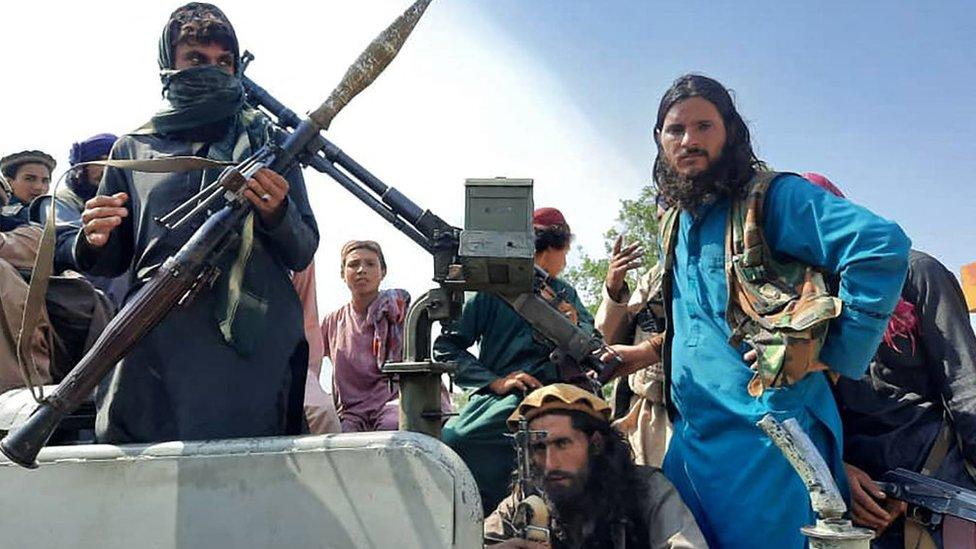 Talibanes el 15 de agosto.