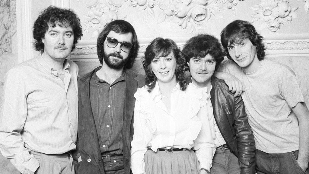 Clannad in 1982: (L-R) Noel Duggan, Ciaran Brennan, Moya Brennan, Padraig Duggan and Pól Brennan