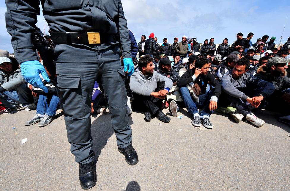 Policeman, Lampedusa
