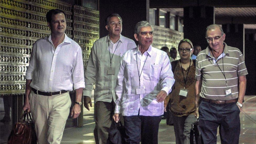 Equipo negociador del gobierno colombiano